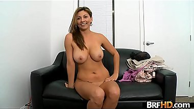 Big tits MILF latina first time facial 1.3