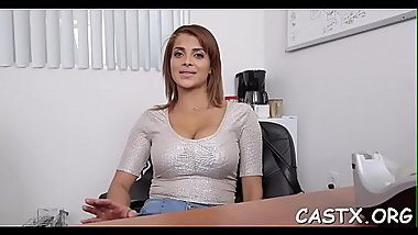 Beguiling brunette Bianca fucks in a non-stop style
