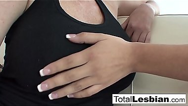 Busty MILF seduces her Latina stepdaughter