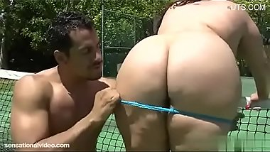 Rikki Waters Playing Tennis With Her Big Tits and Ass