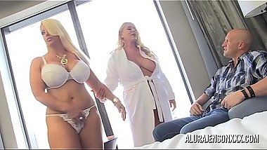 Pornstar Alura Jenson has a threesome with Karen Fisher