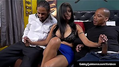 MexiMilf Gabby Quinteros Gets 2 Black Cocks In Both Ends!