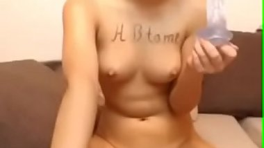 Naughty babe fingering pussy