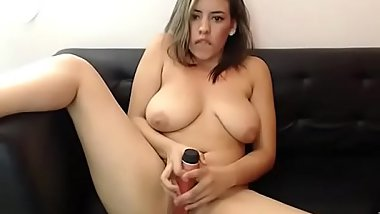 Sexy Latin girl toys pussy