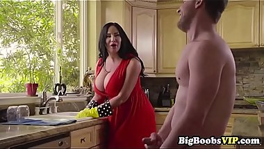 Stepmom Sybil Stallone likes cleans my dick