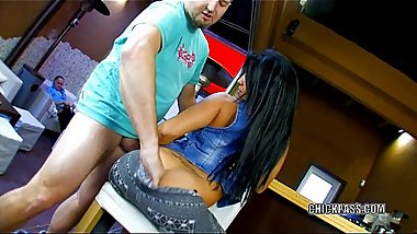 Latina slut Yesenia Rock is getting pounded from behind