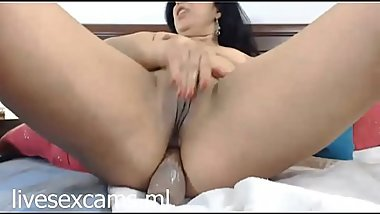 Latin MILF cums twice toying her ass - http://livesexcams.ml